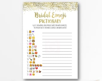 graphic relating to Wedding Emoji Pictionary Free Printable titled The Initial Wedding day Emoji Pictionary Bridal Shower Sport Etsy
