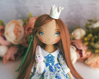 Princess Juliette  doll textile, art doll, ooak, doll interior artdoll ,