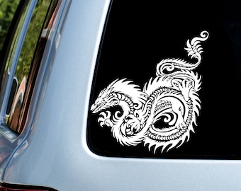 Tribal Dragon Vinyl Decal - Donation With Purchase - **Choose your donation organization by adding a note at checkout**