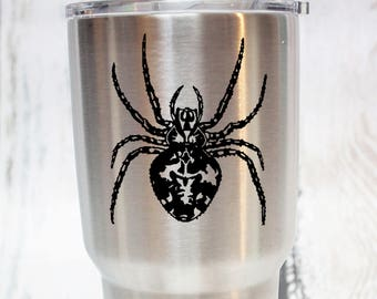 Spider Vinyl Decal -  Donation With Purchase - **Choose your donation organization by adding a note at checkout**