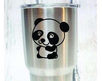 Panda Vinyl Decal - Donation With Purchase - **Choose your donation organization by adding a note at checkout**