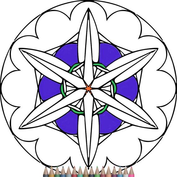 Páginas para colorear páginas para colorear de Mandala | Etsy