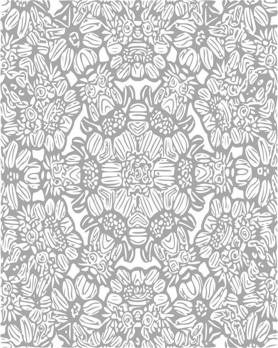 Adultos páginas para colorear Mandala patrón de | Etsy