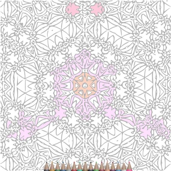 Páginas para colorear adultos caleidoscopio zentangle arte
