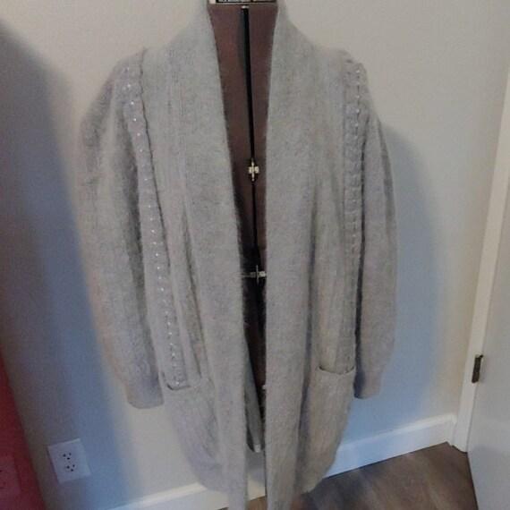 Vintage 80s Angora Fur Cardigan