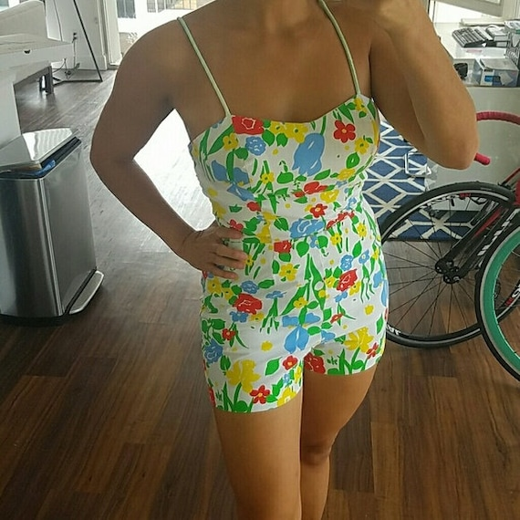 Vintage Pinup Playsuit Swimsuit