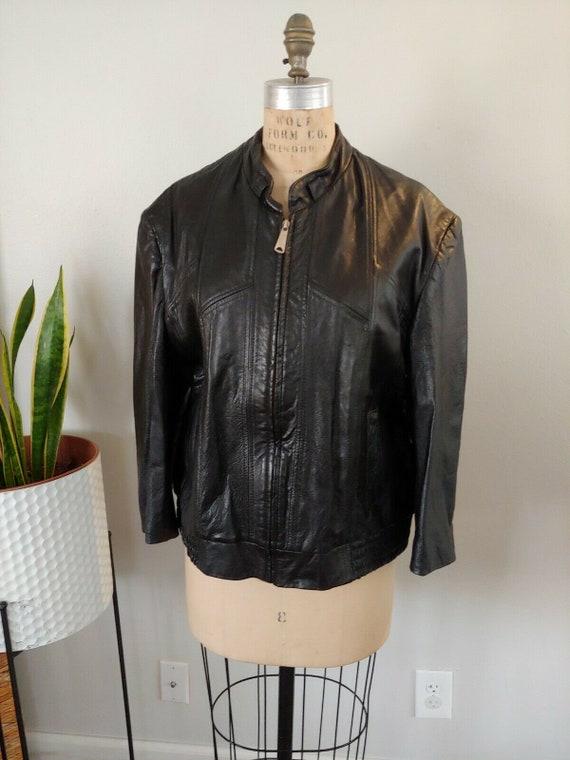 Vintage Attica Of California Leather Moto Jacket B