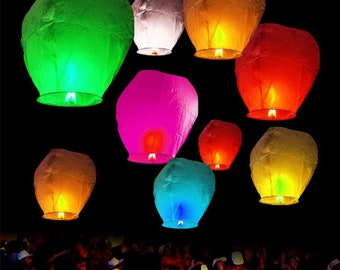 Lot 40pcs Paper Chinese Lanterns Sky Fly Candle Lamp For Wish Party Wedding Goods Of Every Description Are Available Outdoor String Lights