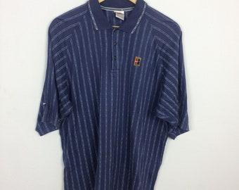 c2b43809 Vintage 90s Nike Challenge Court Polo Shirt Size M Striped