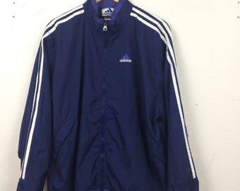 Vintage 90s Adidas Windbreaker Jacket Size XL Embroidered Logo