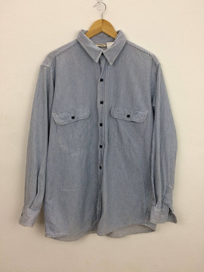 Vintage Five Brothers Long Sleeve Button Up Shirt Size L