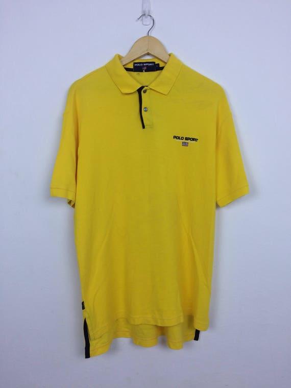 Vintage des années 90 Polo Sport Ralph Lauren Polo Chemise taille L