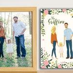 Personalized Portrait, Custom portrait, Custom couple illustration, anniversary gift, wedding gift, father's day gift,