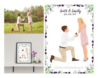 DIGITAL Personalized, Custom portrait, cartoon illustration, anniversary gift, wedding gift, cartoon portrait, birthday present