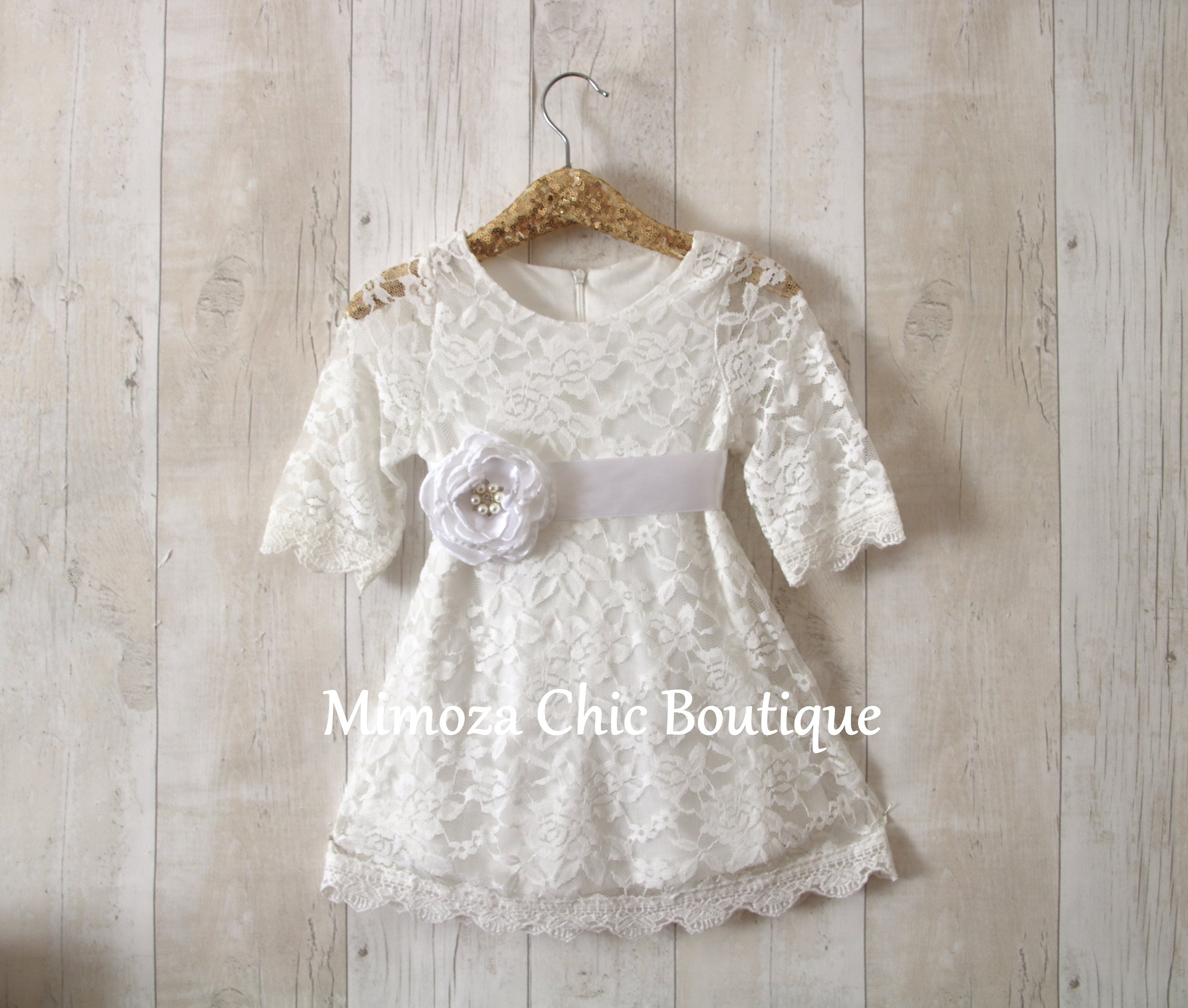 af682f08224 Flower Girl Dress Girl Lace Dress Country Lace Dress White