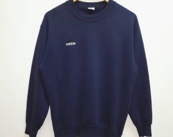 Vintage Sweatshirt Adidas small embroidered Logo Blue Black colour nice condition