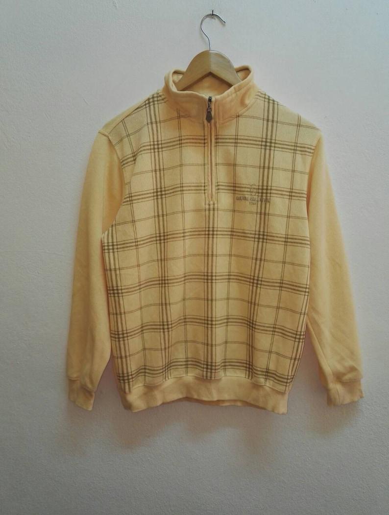 ss096 Vintage Gianni Valentino Sweatshirt Small Logo Good Condition Used