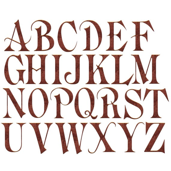 picture about Printable Old English Letters identified as Alphabet Clip Artwork, Outdated English Alphabet, Clipart, Outdated Deep Copper, Steel Alphabet, Letters and Figures, Printable Clipart, Electronic Obtain