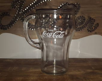 Vintage Coca Cola Pitcher with Ice Lip