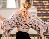 Crochet Knit Sweater Wings Sweater by Namaste and Crochet