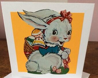 Hand Made Joy at Easter Bunny Card