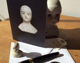 Dolls Head Greeting Card