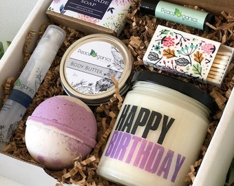 Birthday Gift For Her Mom Box Aunt Friend Happy BFF Woman Peace Organics