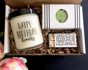 Personalized Gift Customized Candle Birthday Present Custom Ideas Send A For Her Him Last Minute Friend Box