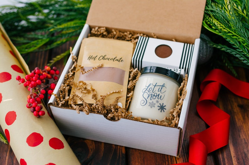 Unique Gifts  Holiday Hot Chocolate  Winter Gift Box  image 0