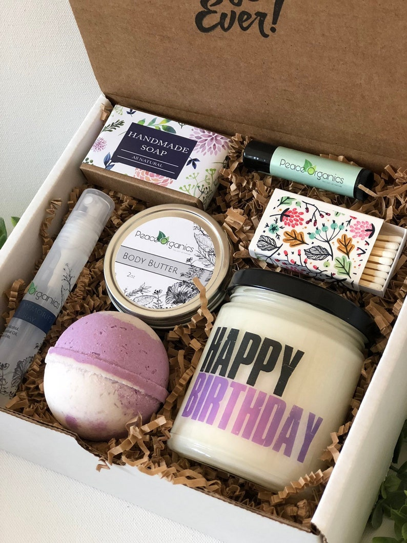 Birthday Gift For Her Gift For Mom Birthday Gift Box Gift For Aunt Gift For Friend Happy Birthday Box Bff Gift For Woman Gift Peace Organics