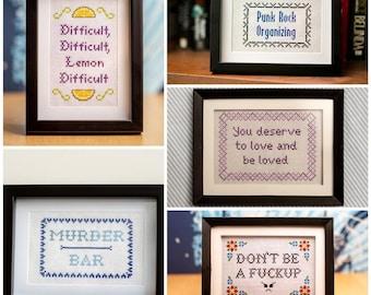 Custom Designed DIY Cross-Stitch Kit: Your Words Here!
