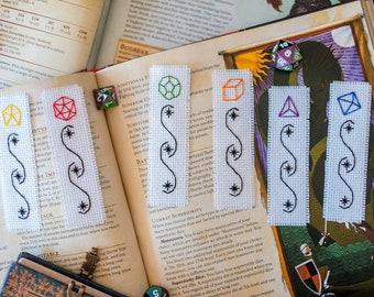 PDF pattern Dungeons and Dragons RPG Dice mini bookmark set
