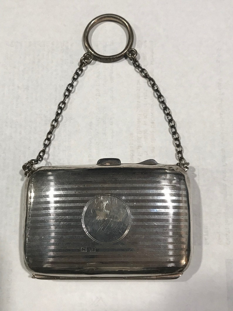 1916 Sterling Coin or Vanity Purse Chatelaine England Hallmarks