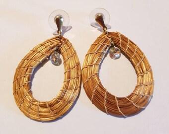 Twine earrings. Crystal earrings