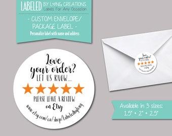 envelope label etsy