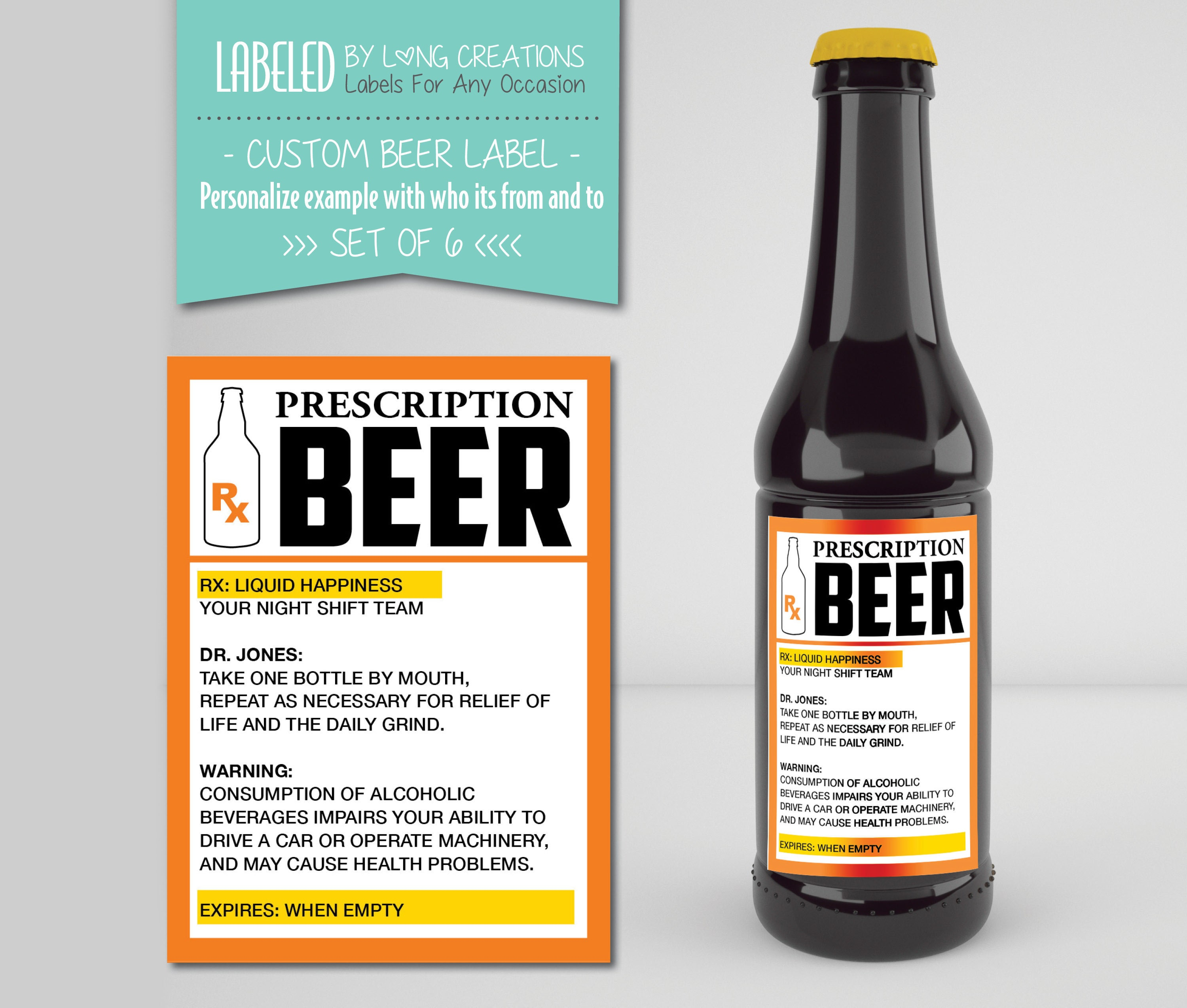 This is a photo of Comprehensive Funny Beer Warning Labels