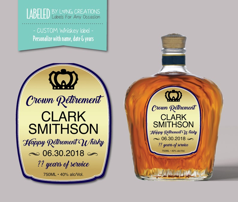 Customized Crown Royal Label