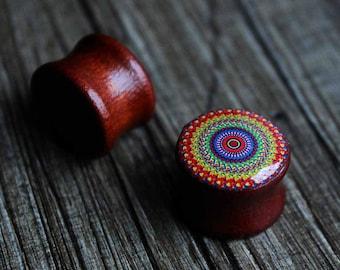 Double flared ear plugs 00g, 10mm,12,14,16,18,20,22,25,30 mm  3/8,1/2,9/16,5/8,11/16,13/16/7/8,1,1 3/16 tunnels gauges custom wooden piercin