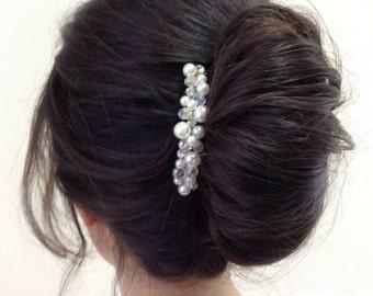Bridal Hair Comb Pearl Hair Comb Rhinestone Hair Comb Wedding Hair Piece Bridal Headpiece Bridal Hair Accessories Wedding Crystal Hair Comb