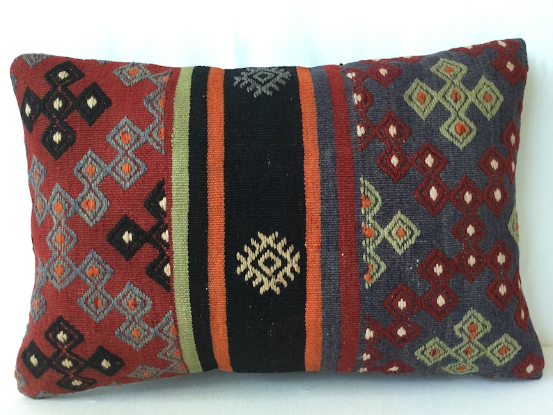 Pillow Kilims 24x24 inch Turkish Kilim,Kilim Carpet Rug Rugs 106- Turkish Anatolian Kilim Pillow Carpets. 60x60 Cm