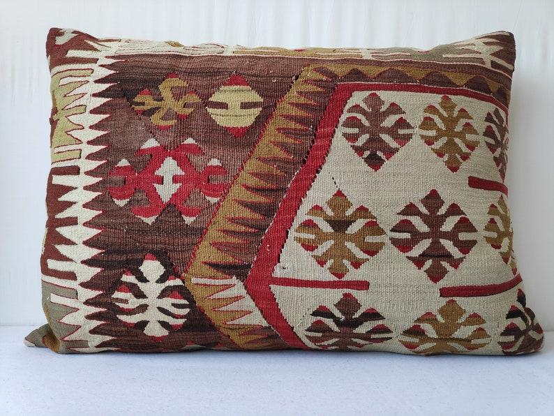 Turkish Handmade Kilim Pillow,Pillow Anatolian Kilim Pillow 28x20 inch 70x50 cm Decorative Kilim Pillow Ethnic Kilim Pillow Kilim Pillow