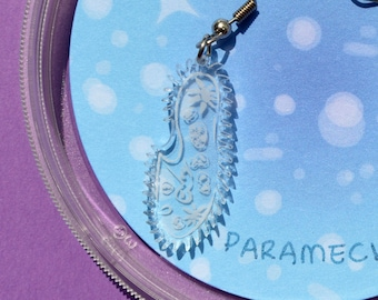 Paramecium earrings | Science Jewelry