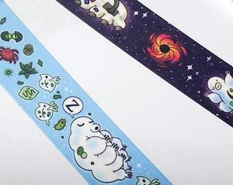 Tardigrade water bear washi tape   Science Biology washi tape sticker