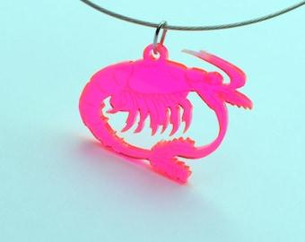 Mysis - crustacean - pendant   Science Jewelry