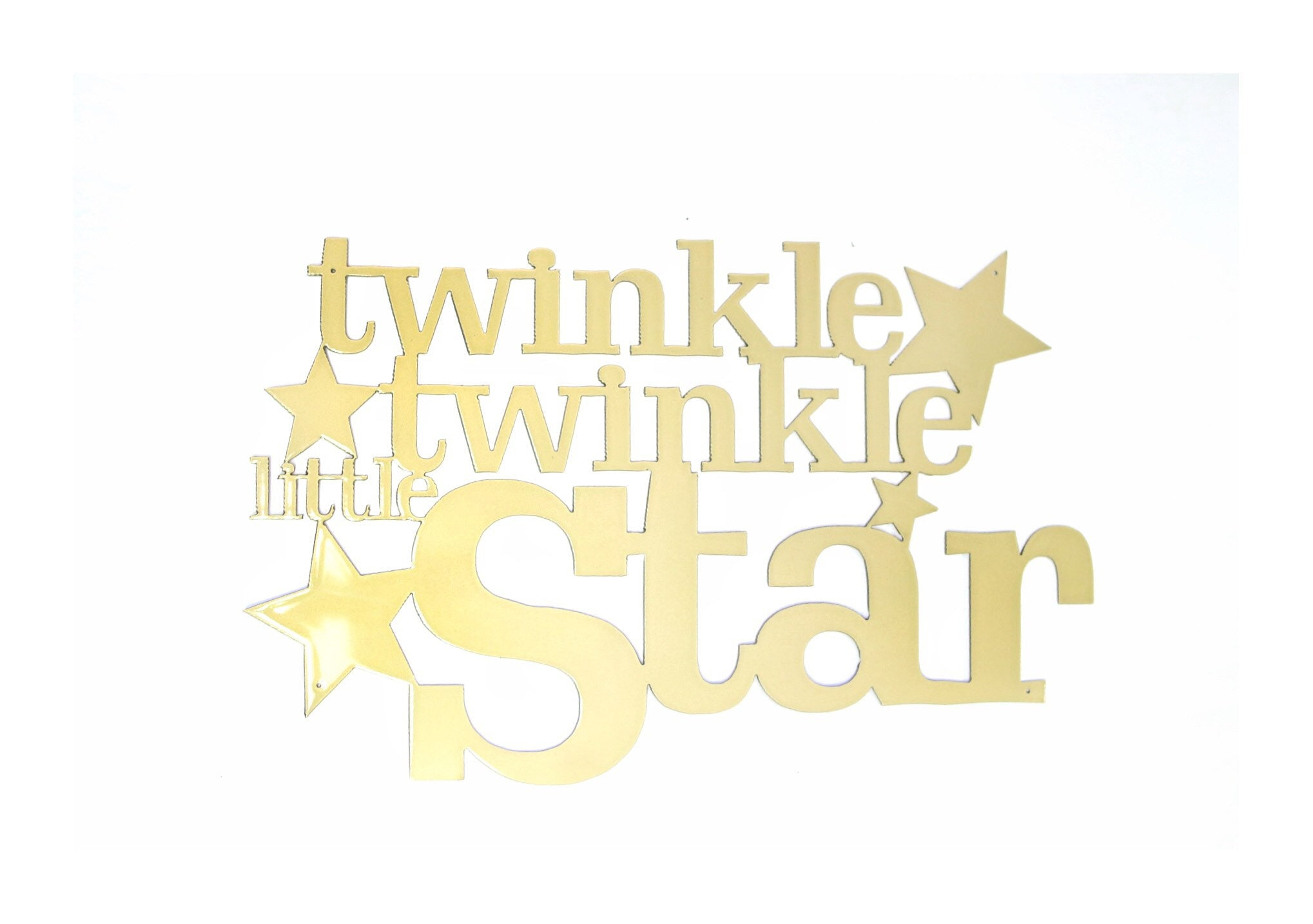 Twinkle Twinkle Little Star Metal Wall Art Sign / Decor Accent | Etsy