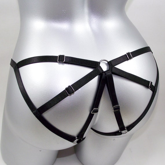 Harness Lingerie Black Sexy Kniky Strappy Erotic Bondage Ets Ultrahorny 1