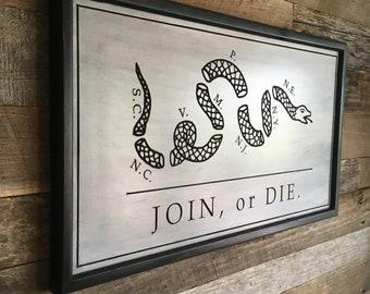 Liberty or Death Vintage Tin Sign Old Sign Mancave sign Garage Sign Join or Die Dont Tread On Me Metal Sign