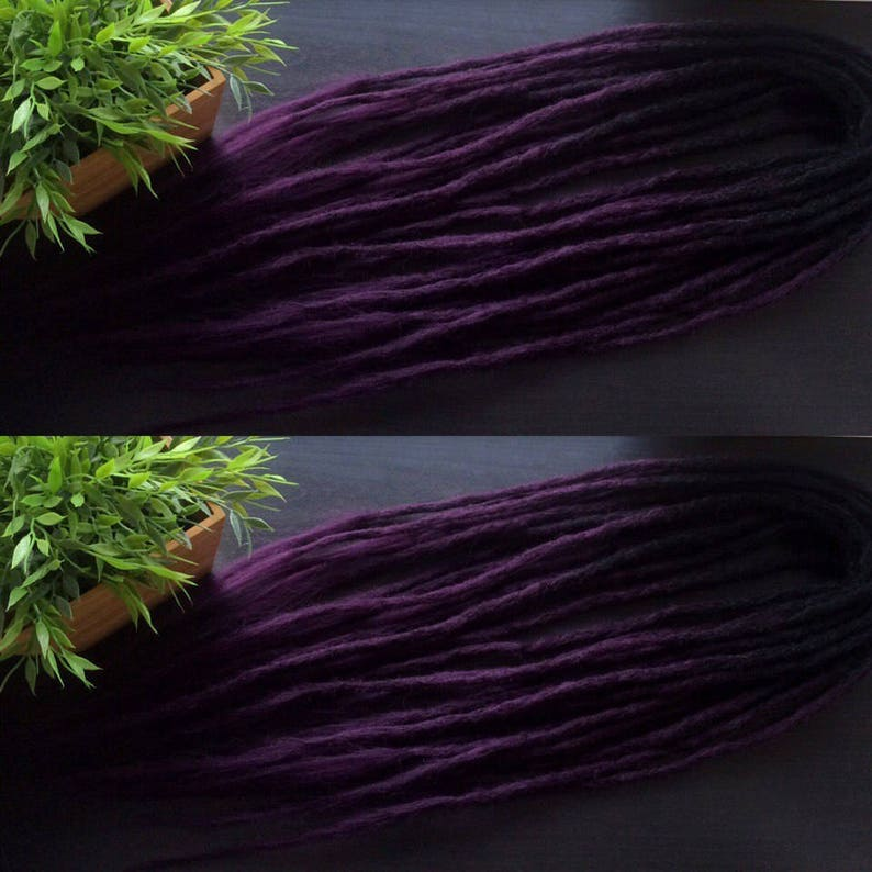 Ombre Set Crochet Synthetic Dreadlocks; Double Ended or Single Ended