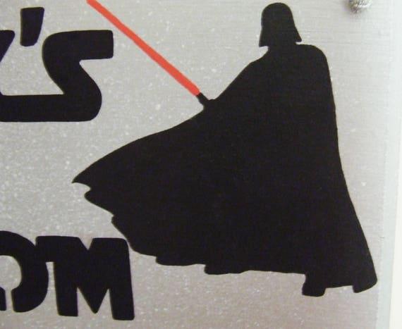 Personalised Star Wars Plaque Gift Bedroom Room Boys Darth Vader Sign