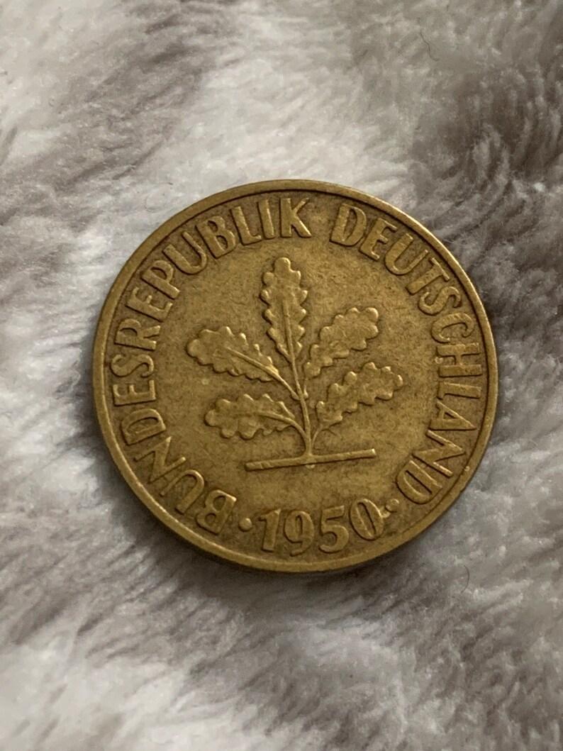 1950-D Deutschland 10 Pfennig Coin
